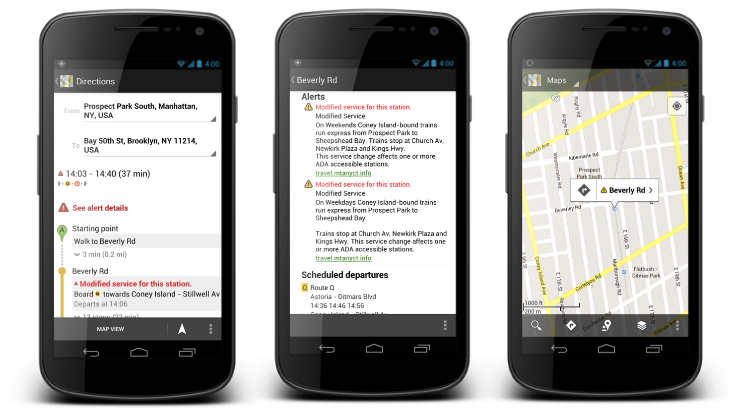 Google Adds Live Transit Tracking To Six Locations On Google Maps - Nyc subway map on google