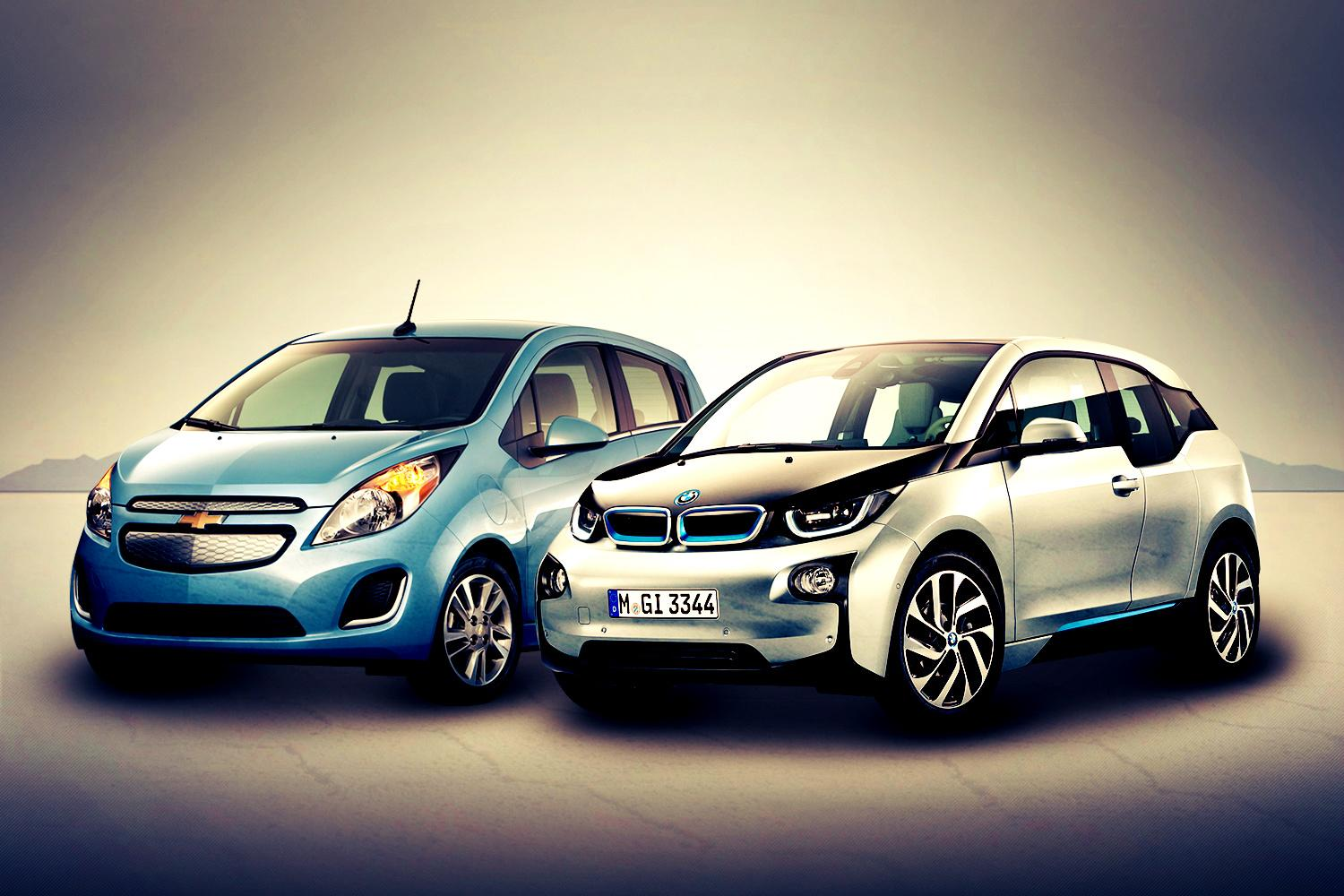 Bmw I3 Vs Chevy Spark Ev Bavaria And Detroit May Be