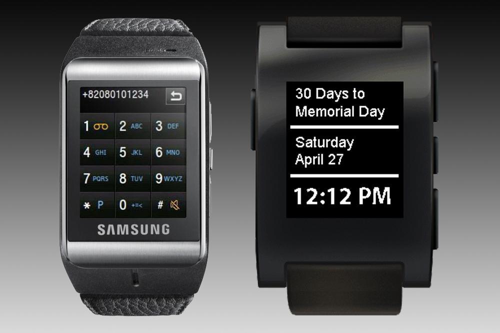 Galaxy Gear vs. Pebble Smartwatch: A Wearable Spec ...