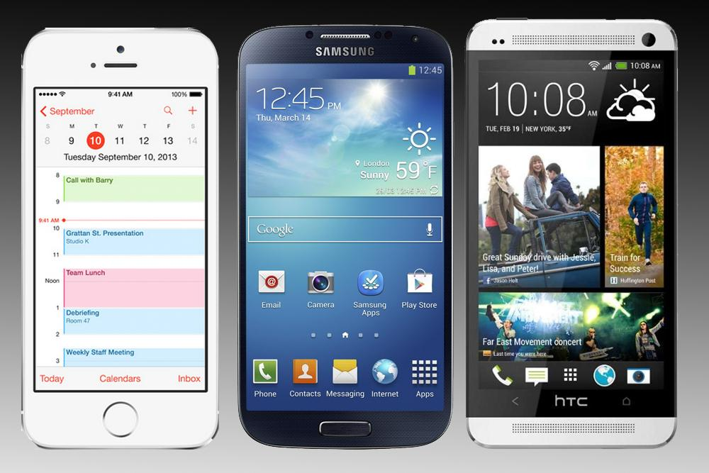 Iphone 5s Vs Galaxy S4 Htc One Iphone5sbanner