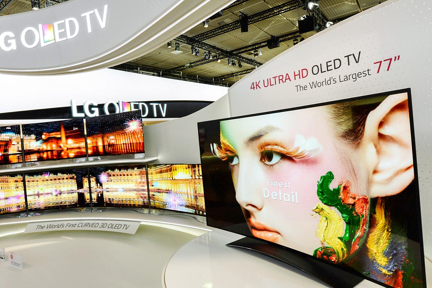 lg unveils 77 inch ultra hd curved oled television at ifa. Black Bedroom Furniture Sets. Home Design Ideas