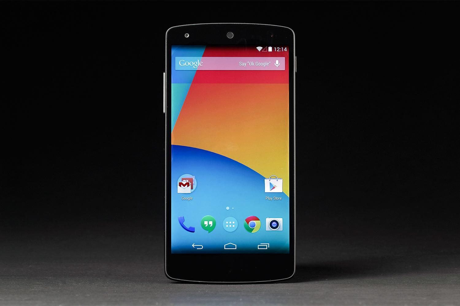 Google Nexus 5 Review Front Android Home