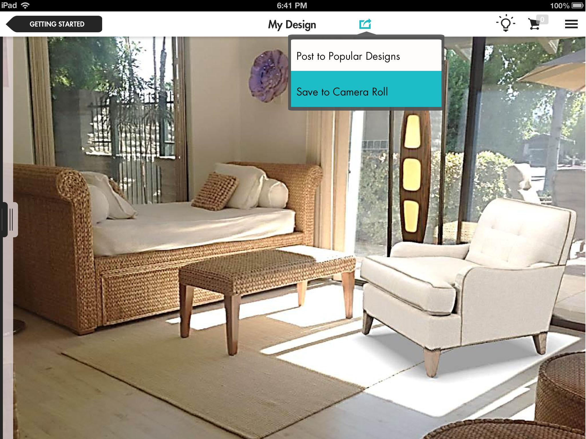 new ipad app adornably uses augmented reality help shop furniture - Virtual Home Design App
