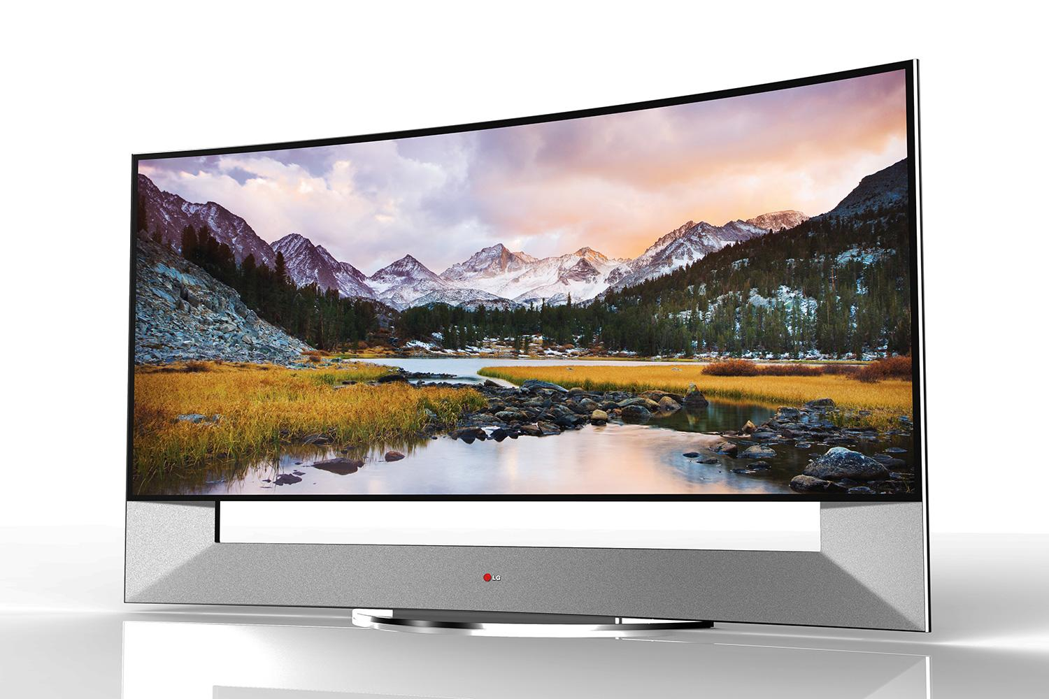 lg announces 105 inch curved 4k ultra hd tv ahead of ces. Black Bedroom Furniture Sets. Home Design Ideas