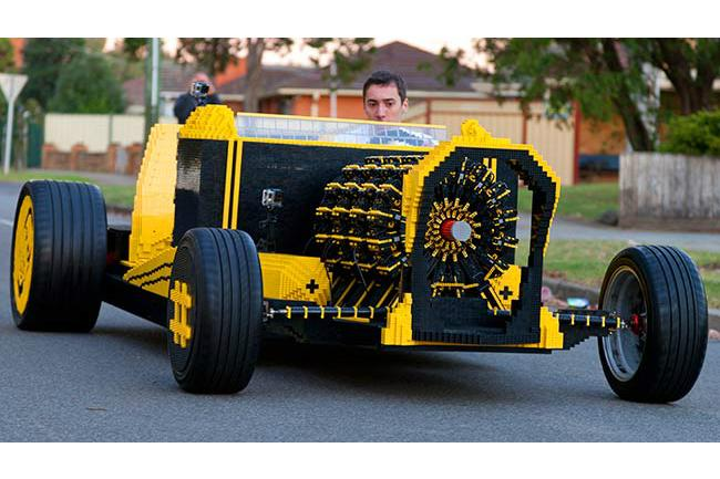 Life Size Lego Car Hits The Road With Engine Powered By