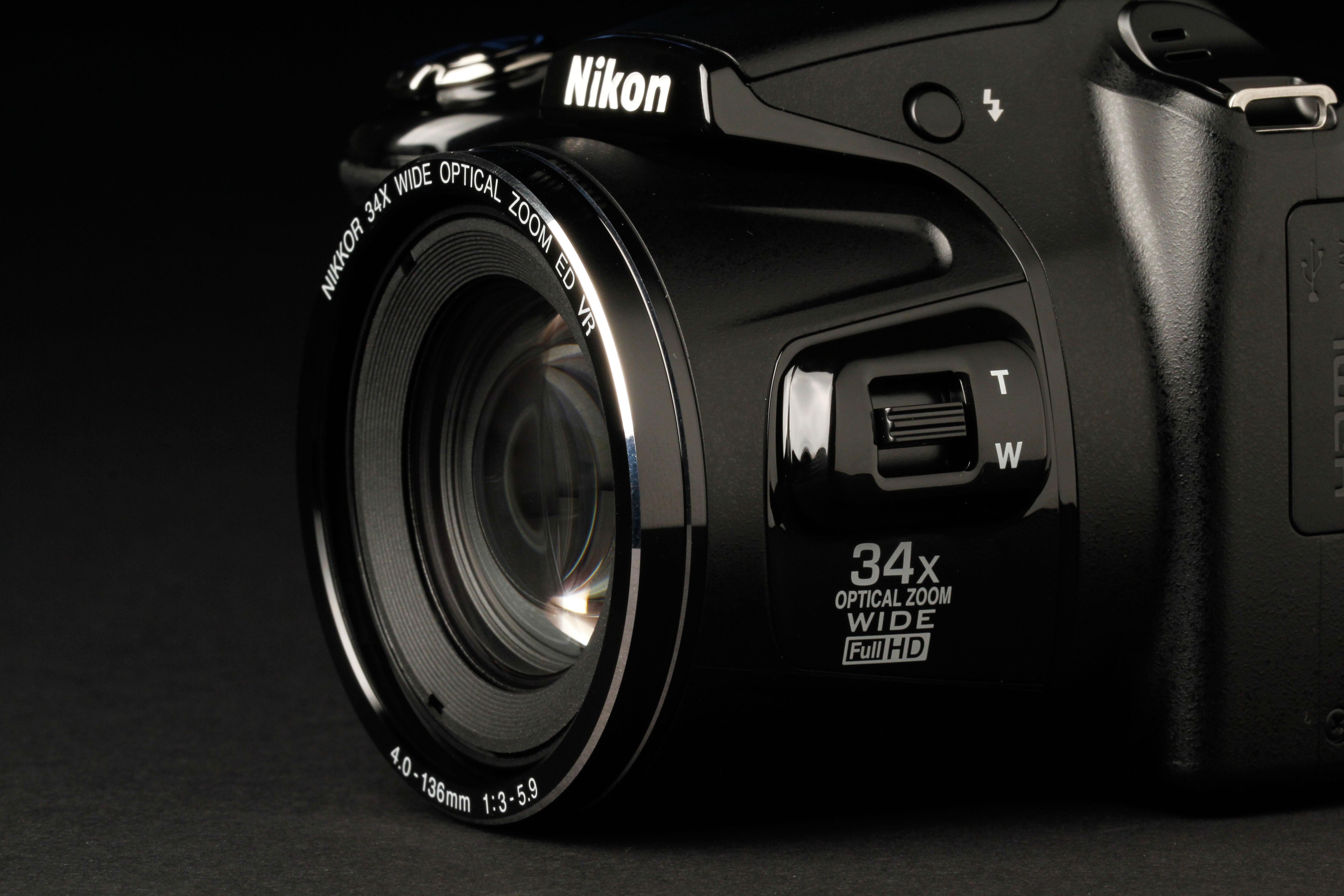 nikon coolpix l  review lens