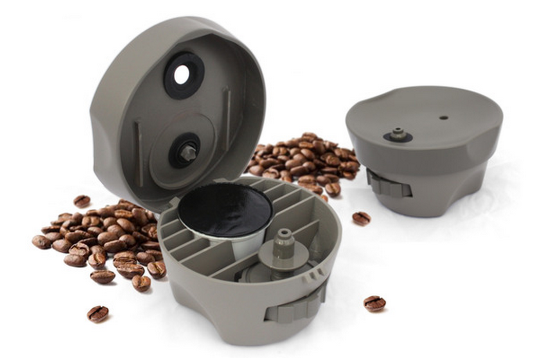 This kickstarter project will transform any coffee machine for Apartment size coffee maker