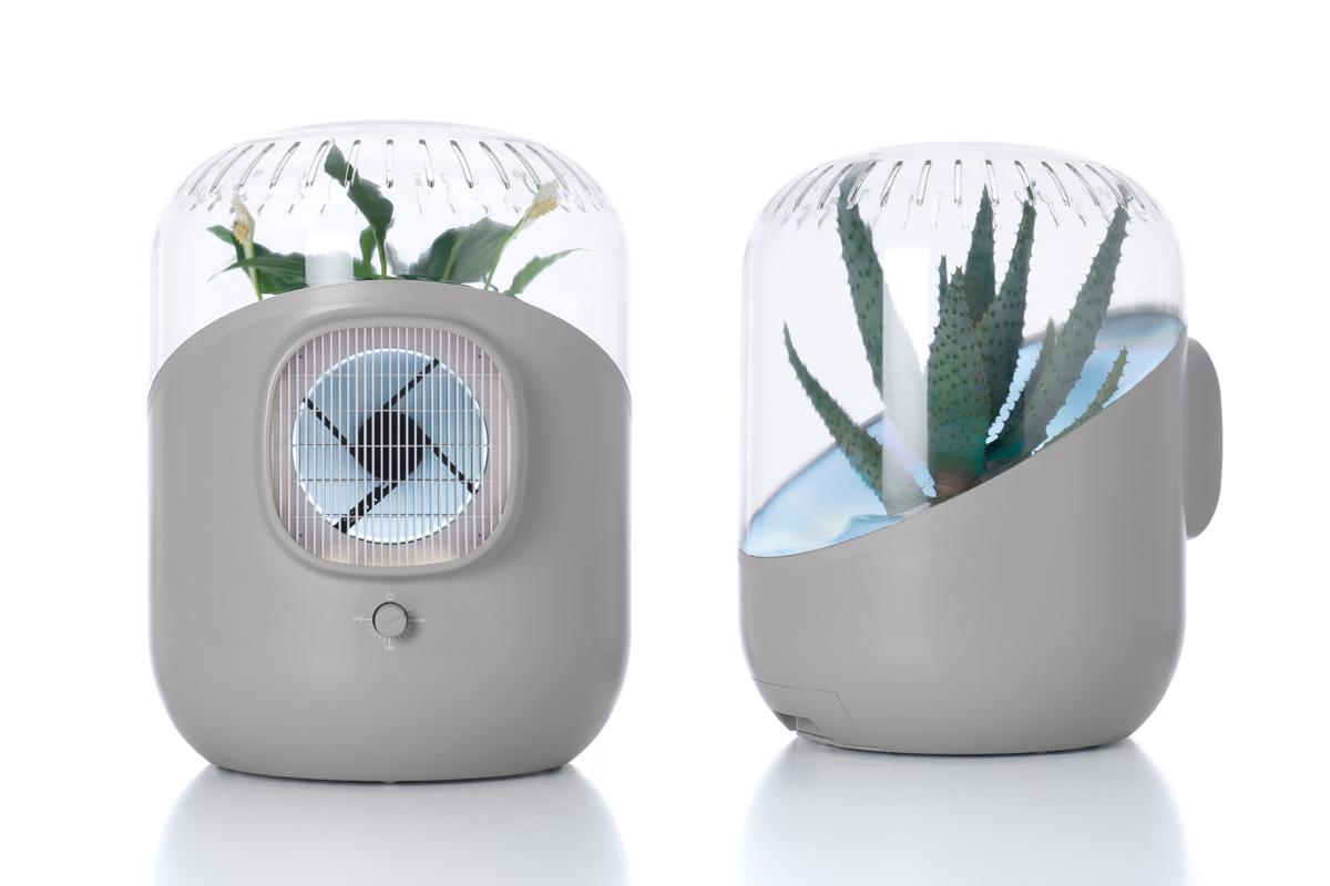 Andrea air purifier uses plant power to clean the air in for Best design household products