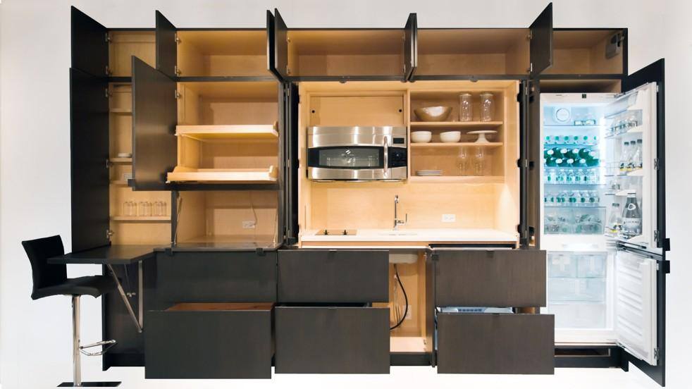 Charming Resource Furnitures Stealth Kitchen Hides Wall Furniture