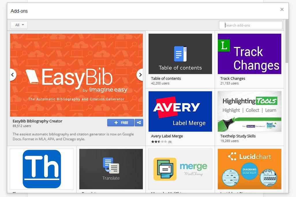 google launches a web app add on store for google docs With google docs add ons store
