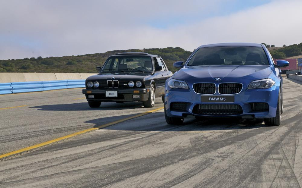 BMW M5 celebrates 30 years with smoking tires  Digital Trends