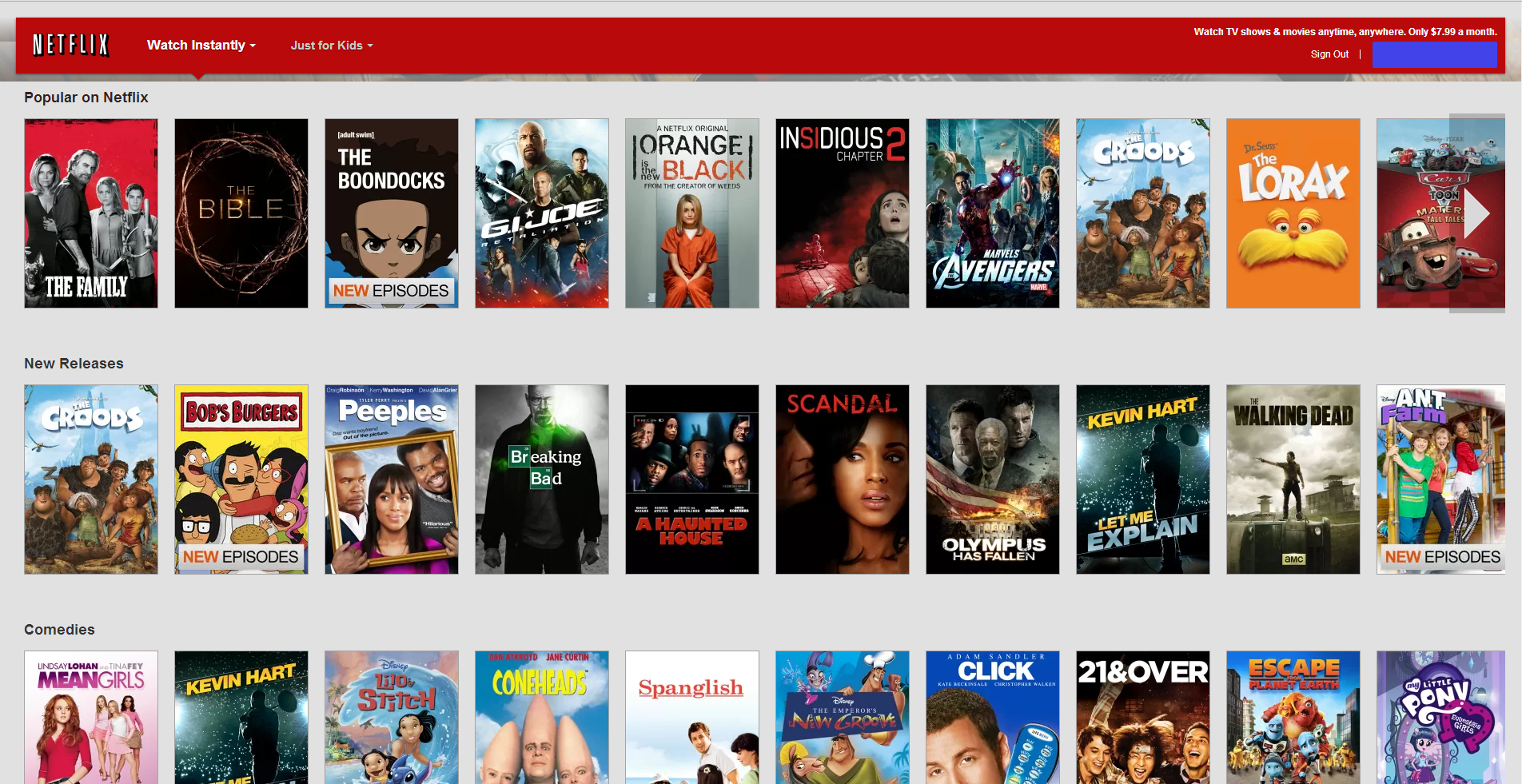 Image Gallery Netflix Selection