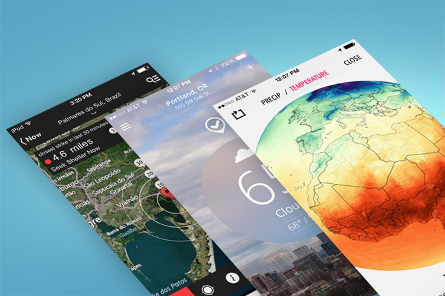 The 12 best weather apps for iphone digital trends for Application iphone temperature interieur