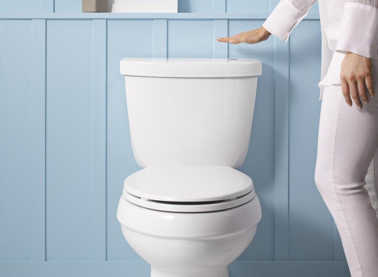 Make your toilet touchless with kohler 39 s new 39 wave to flush 39 kit digital trends - Commode not flushing completely ...