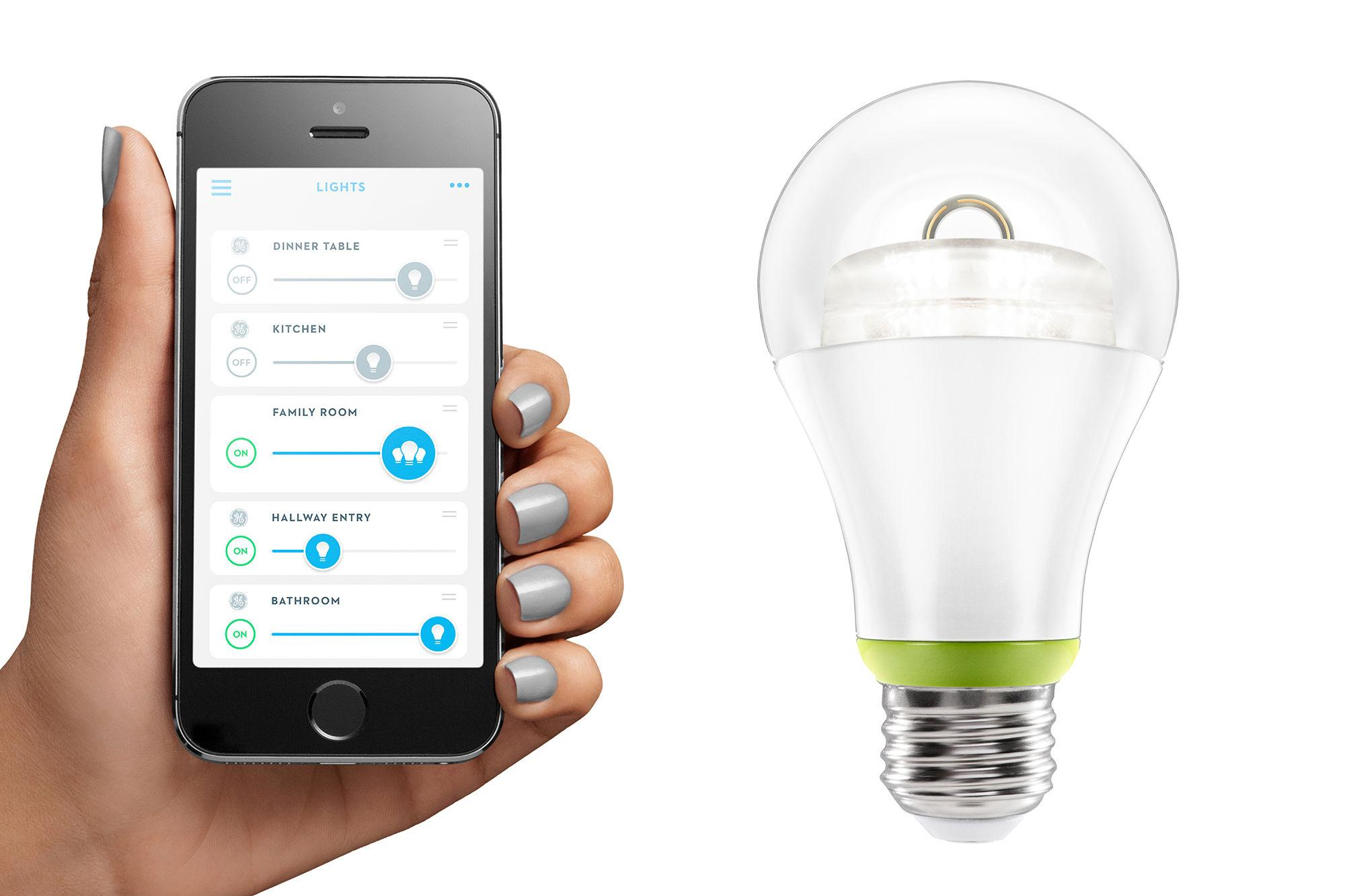 Ge joins the smart lighting party unveils its own connected led bulb digital trends Smart light bulbs