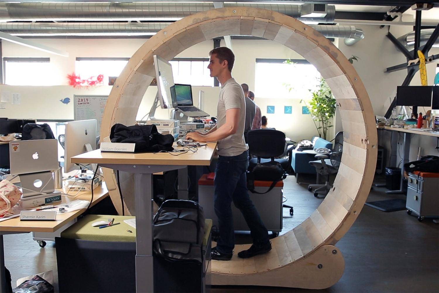 The Hamster Wheel Desk That Lets You Exercise At