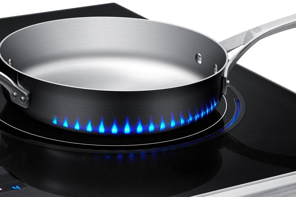 Samsung s Induction Stove Displays Heat with Fake Flames
