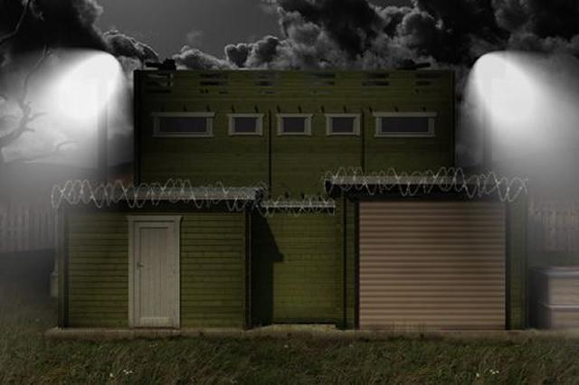 Zombie proof cabin comes with security cameras solar