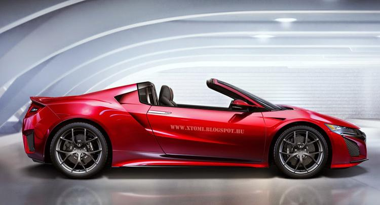 Acura Nsx Targa Version Speculatively Rendered By X Tomi