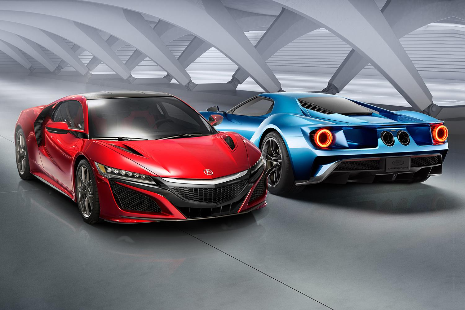 Acura Nsx Vs Ford Gt High Tech Supercar Showdown Digital Trends