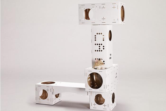 Poopy cat s blocks are cardboard cat playgrounds digital for Diy cat playground