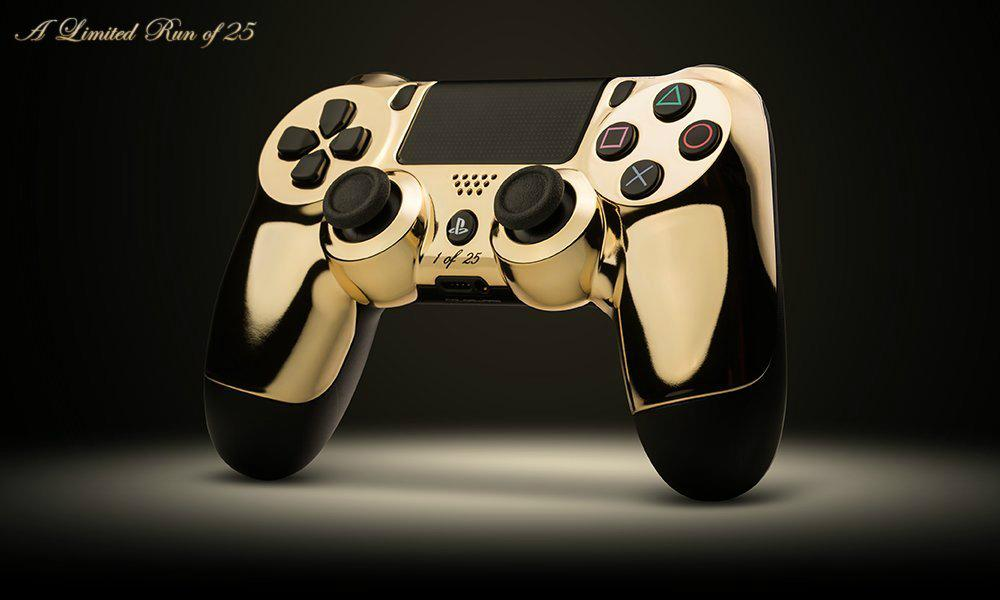 game in style with gold plated controllers digital trends. Black Bedroom Furniture Sets. Home Design Ideas