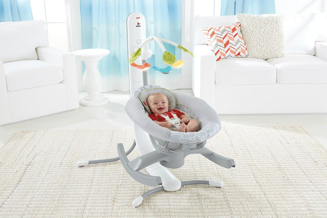 The In Smart Connect Cradle N Swing With A Smartphone Baby Rocker And. Full resolution‎  photo, nominally Width 1357 Height 904 pixels, photo with #82322B.