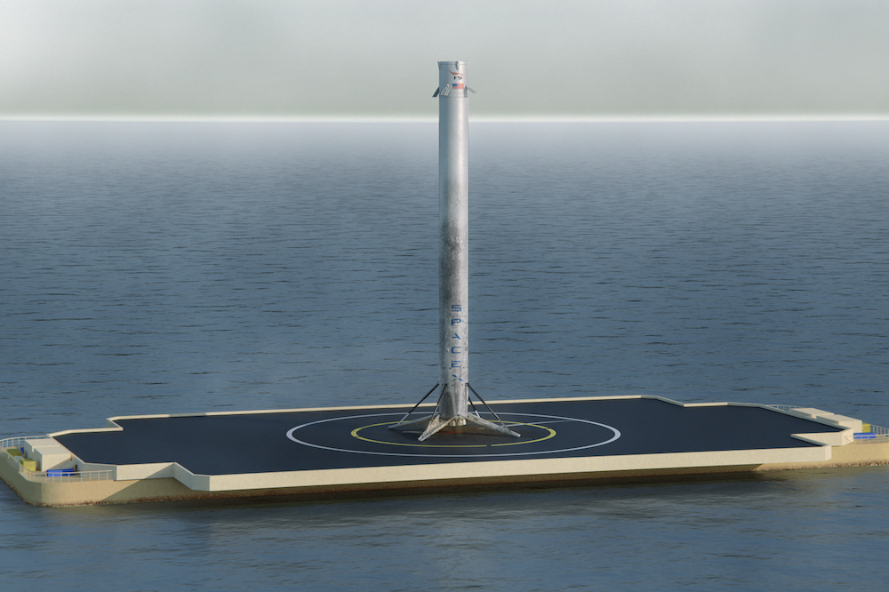 confident spacex to try again for a sea barge landing