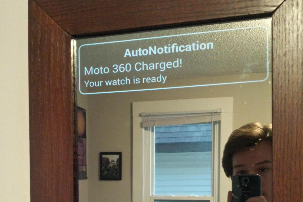 See This Hacked Android Powered Smart Mirror In Action