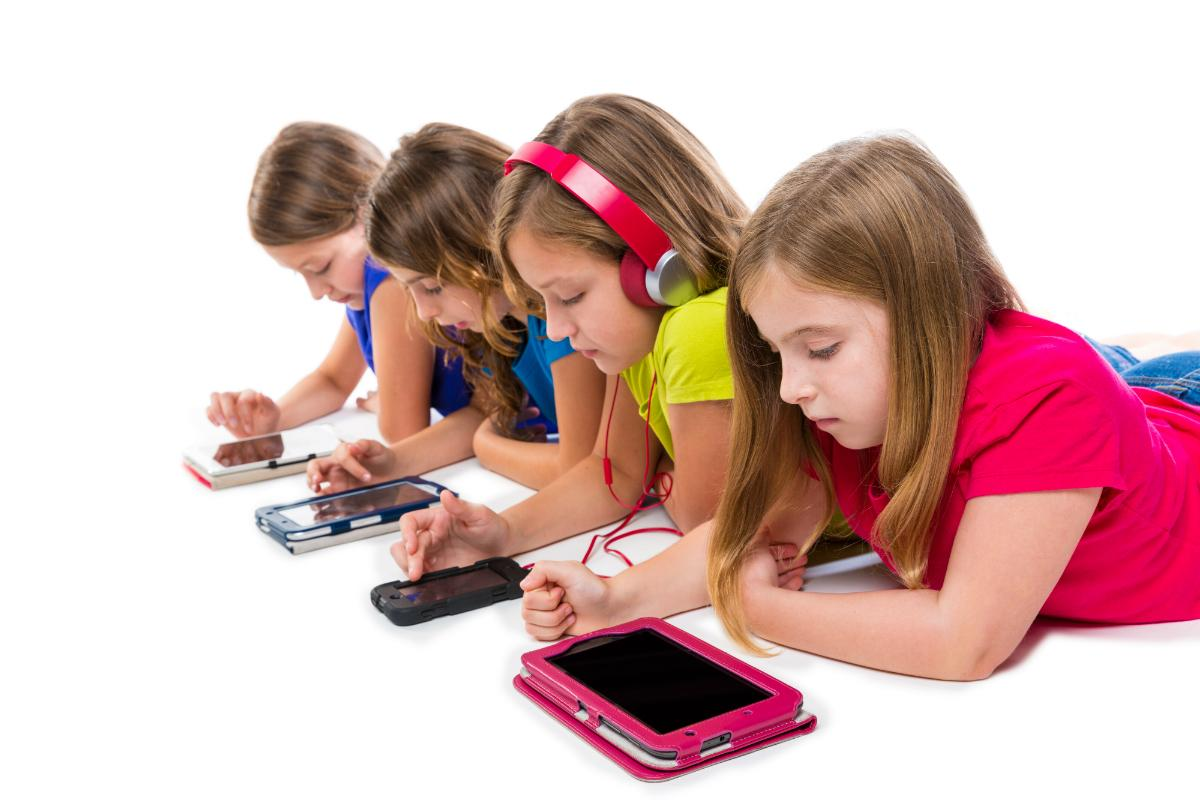Image result for kids playing tablet