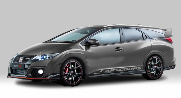 This rendering of a Honda Civic Tourer Type R blends cargo ...