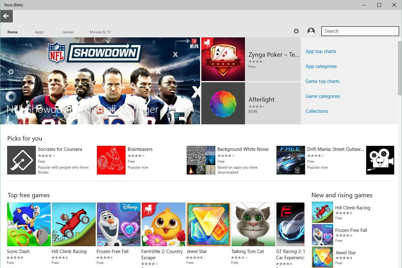 Has windows 10 fixed microsoft s app store woes not exactly for Motor trend app not working