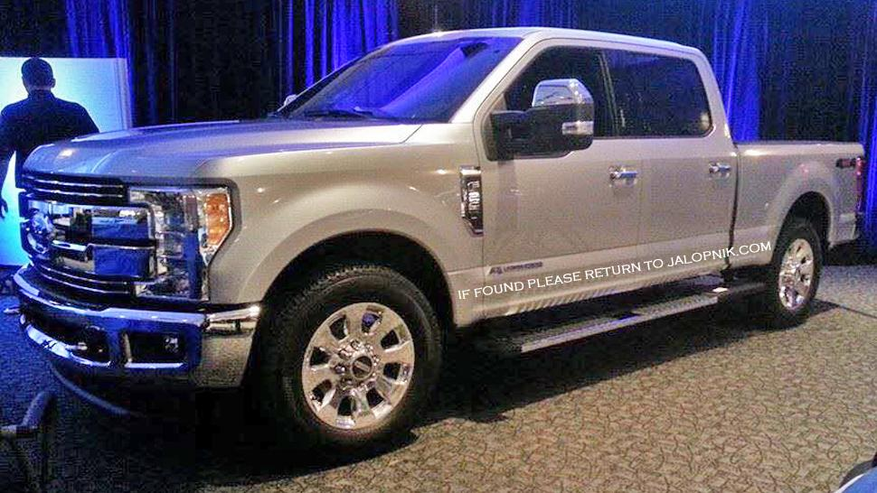 ford s aluminum bodied 2017 super duty leaks out ahead of. Black Bedroom Furniture Sets. Home Design Ideas