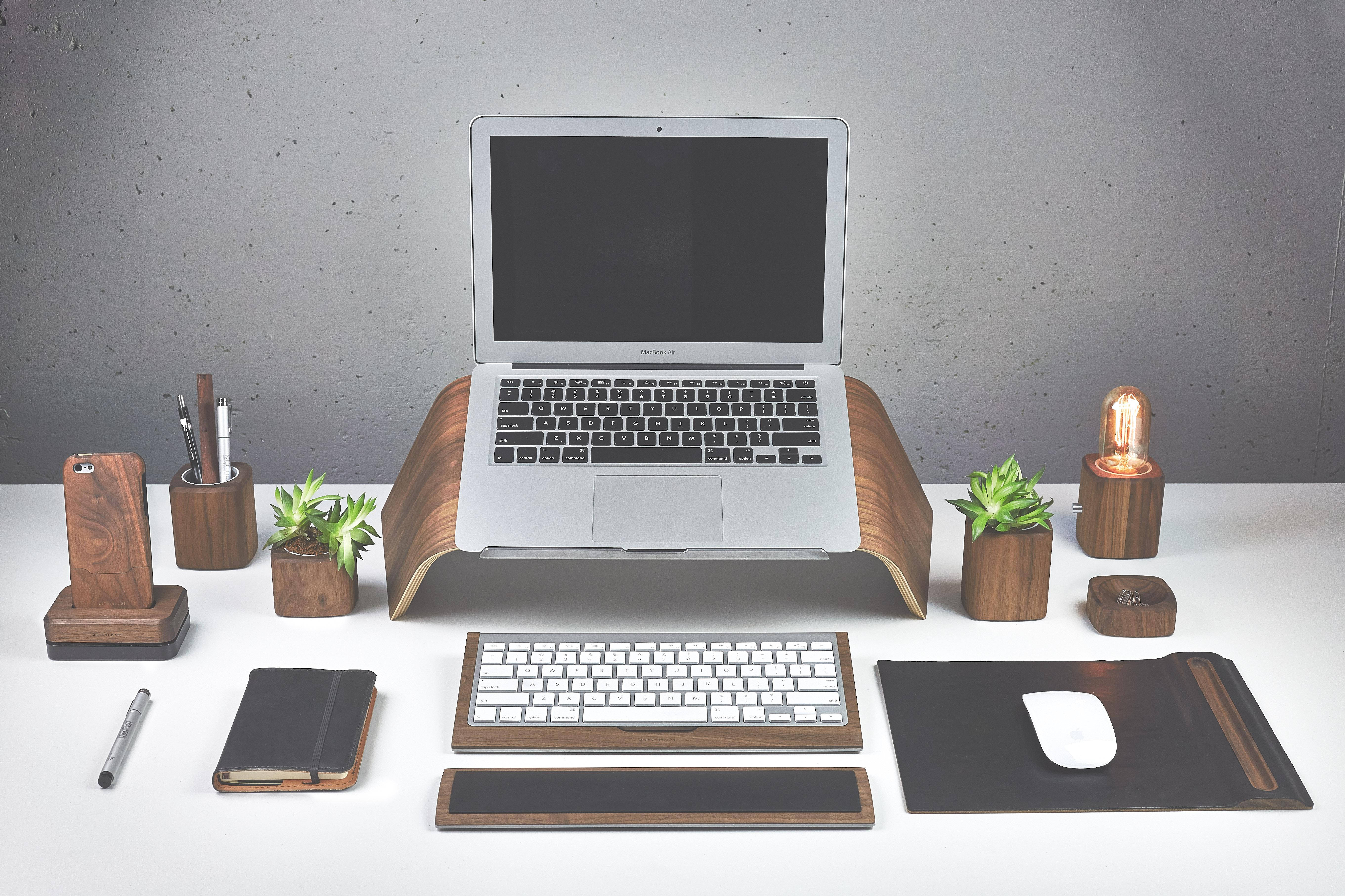 Grovemade - Laptop Stand - Walnut - Entire Collection