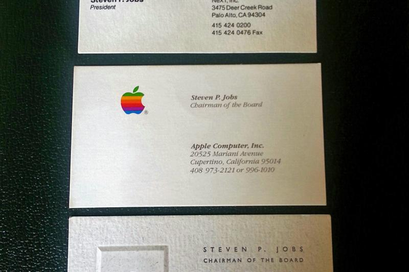 Charity auction gives you the chance to own steve jobs for Steve jobs business card