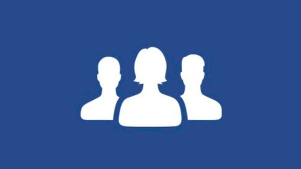 Facebook finally features a woman in front in its friends icon for Grupo facebook
