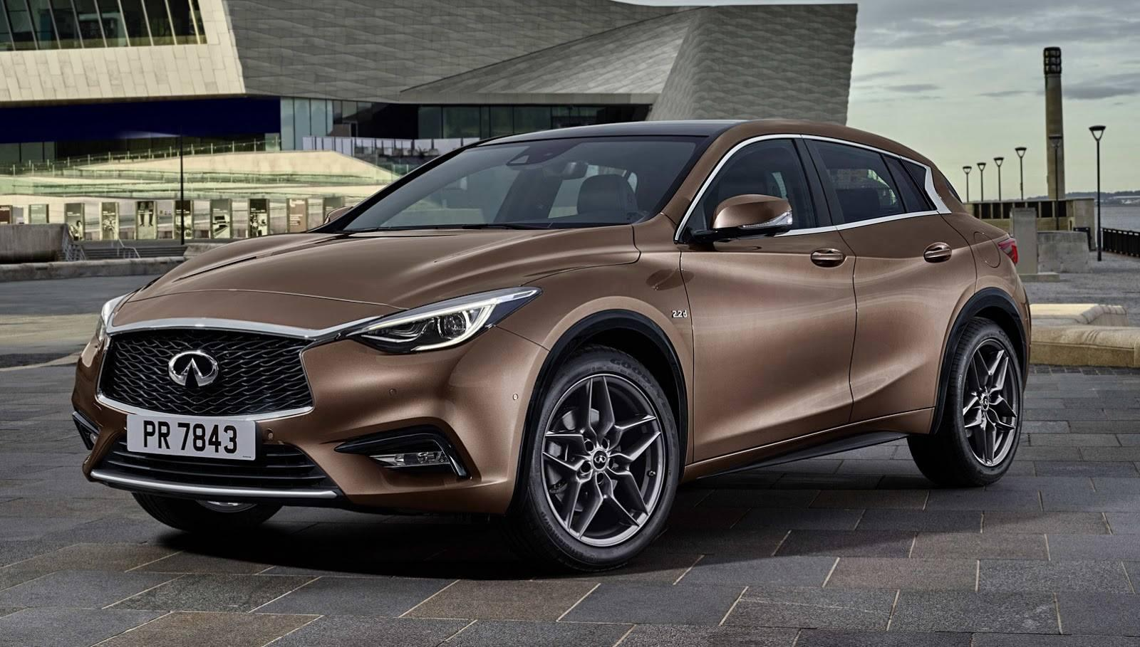 infiniti previews the mercedes based q30 compact ahead of its frankfurt debut. Black Bedroom Furniture Sets. Home Design Ideas