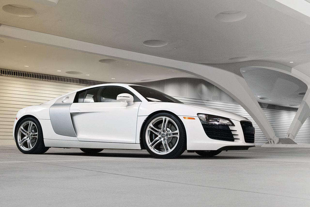 Audi s entry level r8 sports car will wield a twin turbocharged v6 engine