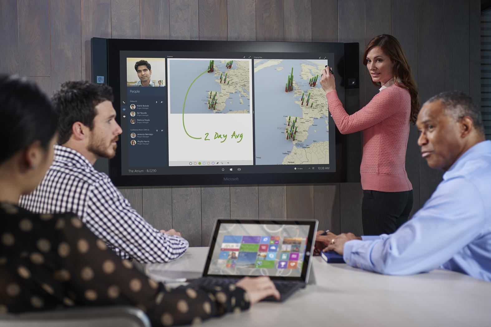 Microsoft starts shipping Surface Hub conferencing system to business customers