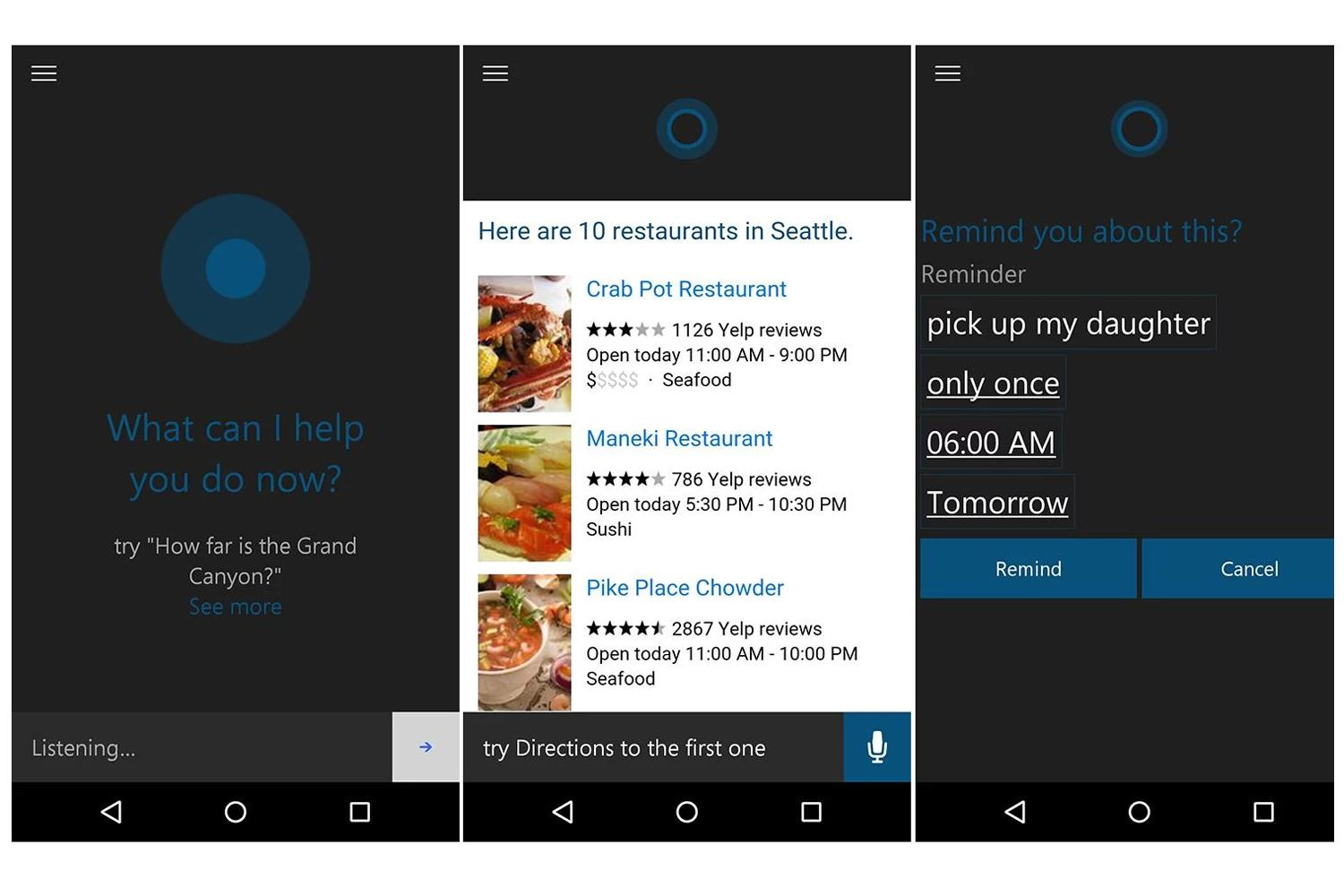 Cortana is now offering assistance to Android beta users too
