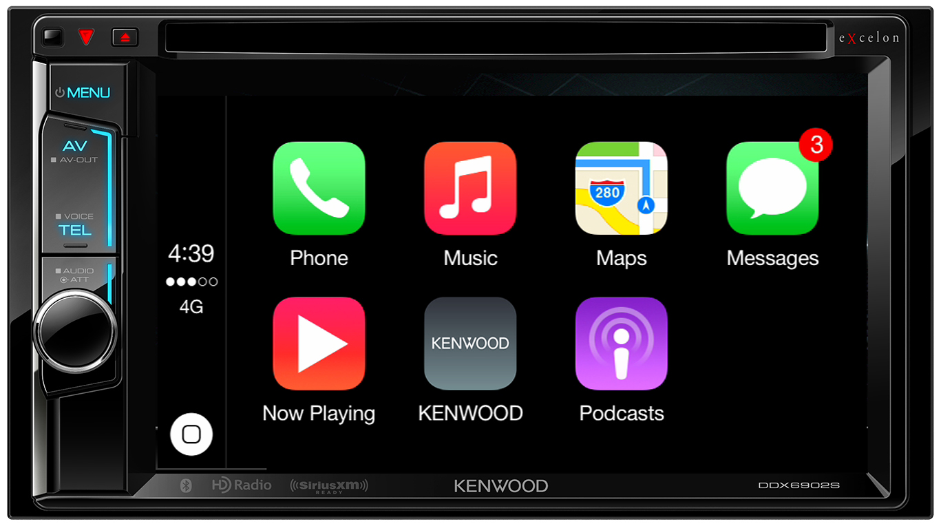 Good news apple fans kenwood announces two new carplay for Honda apple play