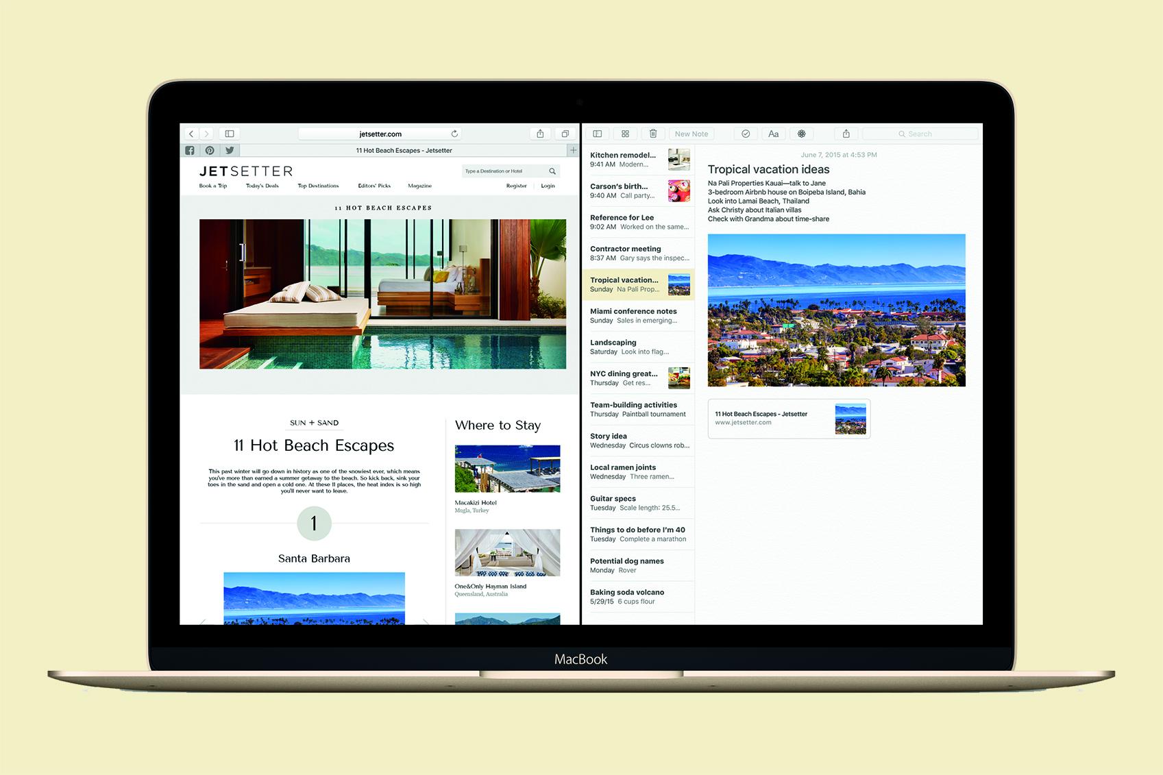 you can download os x  el capitan on your mac right now macbook elcapitan safarinotes print