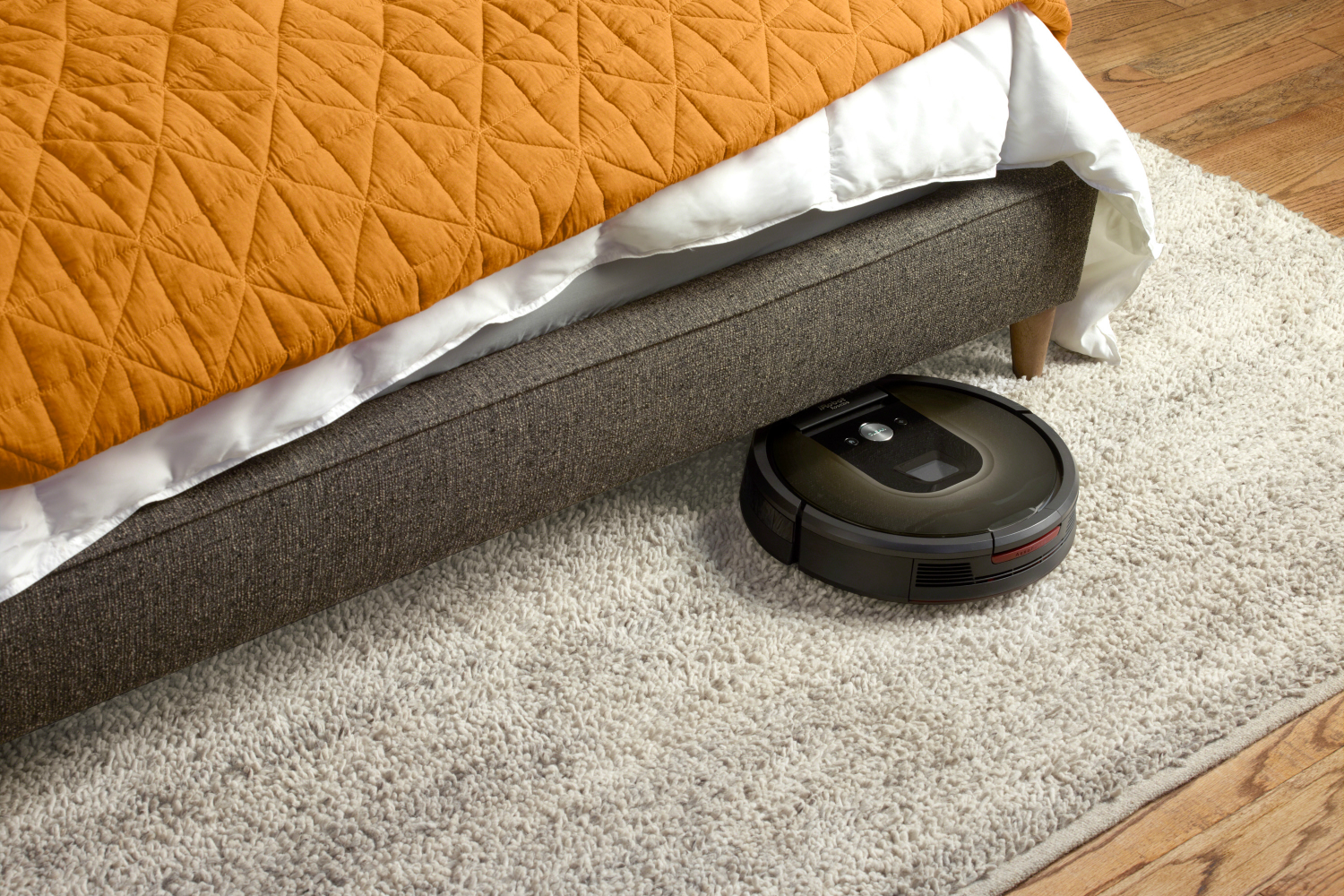 how we test vacuum cleaners roomba  bed
