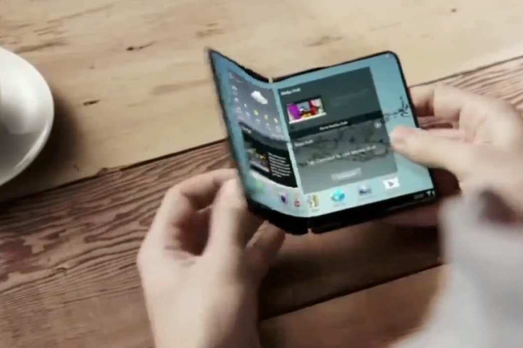 The 'Galaxy X' is rumoured to be Samsung's foldable smartphone prototype