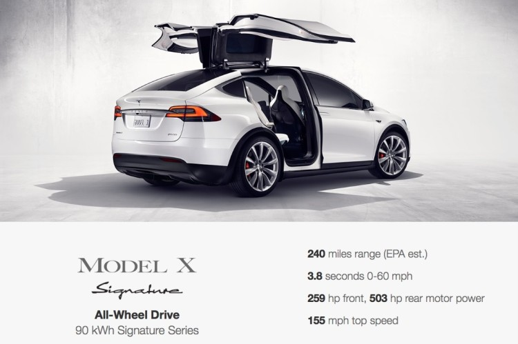 The Tesla Model X will cost over 100K and yes it will offer