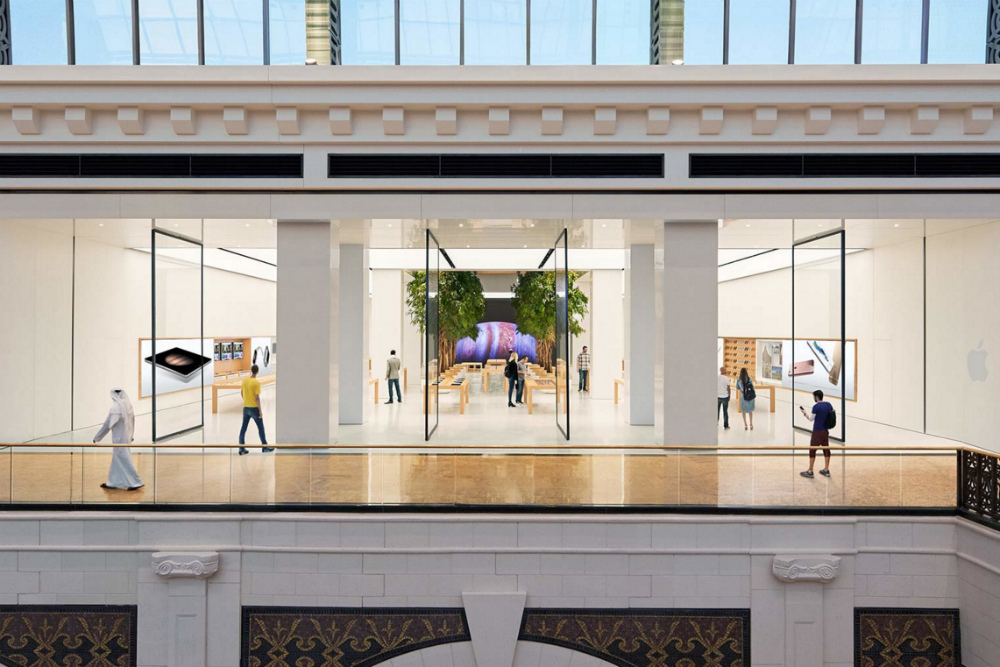 Apple store at the mall of Emirates is the biggest apple store in UAE, Displaying over than products with a staff of 30 different nationalities, Explore Now!