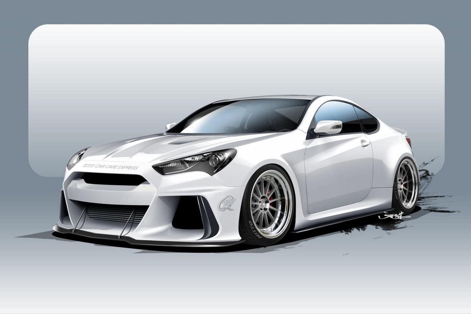 hyundai will storm into sema with a 500 horsepower genesis coupe. Black Bedroom Furniture Sets. Home Design Ideas