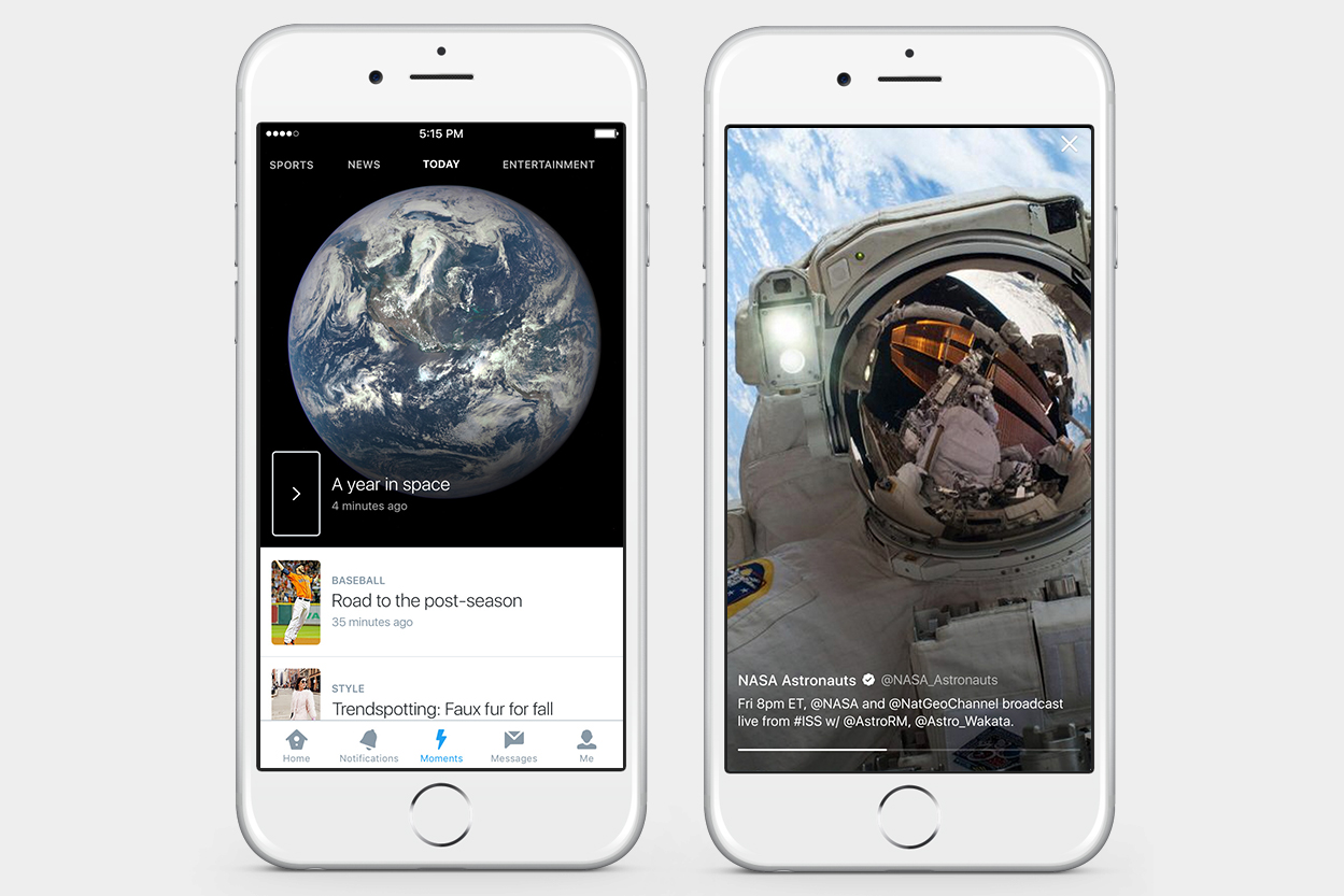Twitter takes on Snapchat as 'Moments' feature goes mainstream