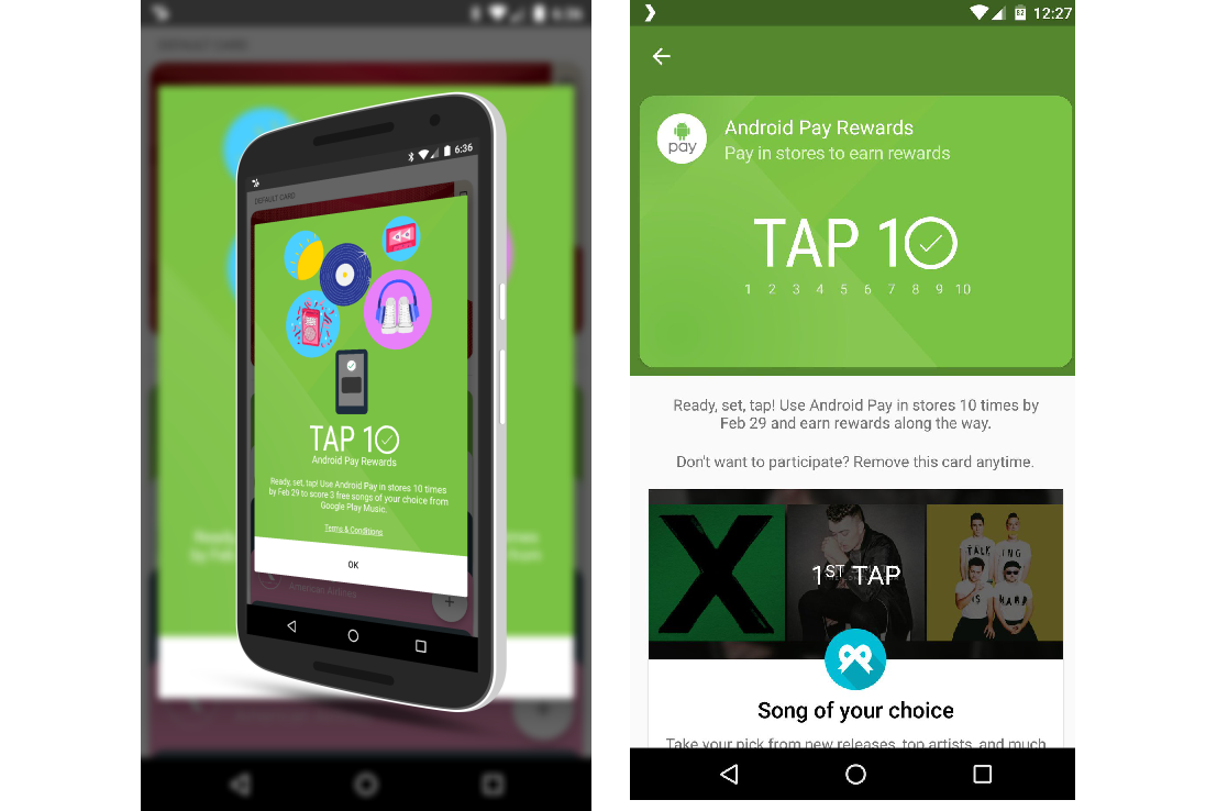 Phone Tap Android Phone android pay tap 10 rewards program news digital trends screenshot leak a