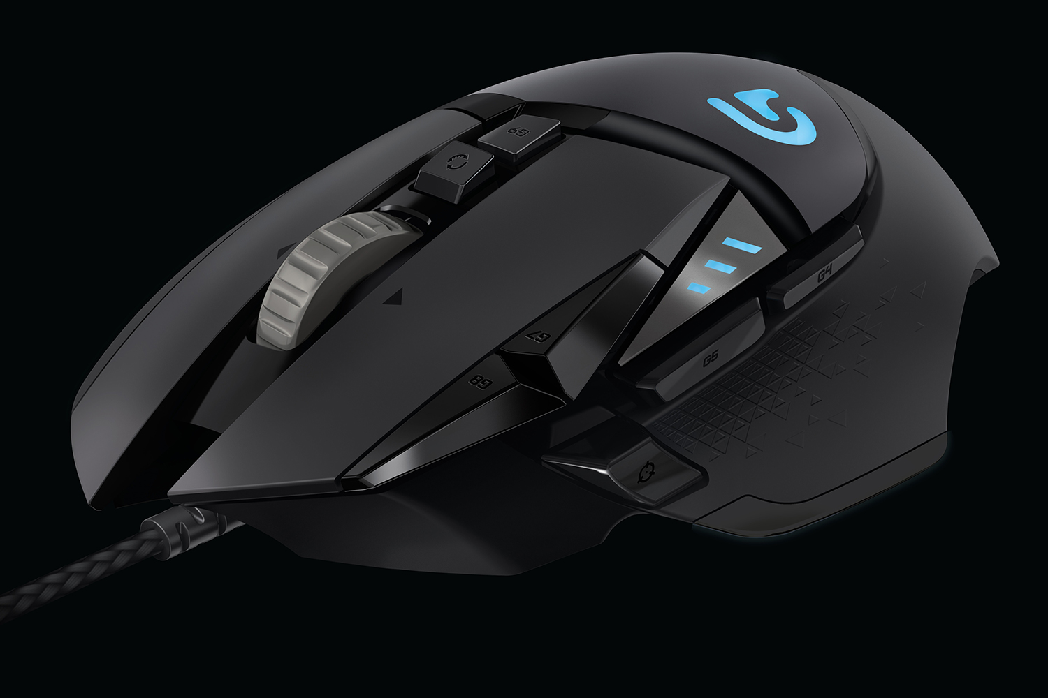 logitech splashes some color on the otherwise serious g502